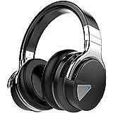 COWIN E7 Active Cancelación de Ruido Auriculares Bluetooth con Micrófono Hi-Fi Deep Bass Auriculares Inalámbricos Sobre El Oído, Cómodo Protein Earpads, 30 Horas Playtime Para Viaje - Negro