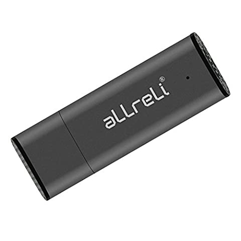 8 Go Enregistreur Numérique Vocal, aLLreLi Rechargeable Clé USB Dictaphone Numérique Audio Vocale Portable Gris
