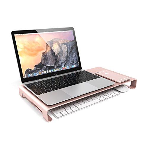 Satechi Universal-Unibody-Monitor-Erhöhung aus Aluminium für 2017 MacBook Pro. iMac Pro, Google Chromebook, Microsoft Surface und andere (Rose Gold) Tragbare Drucker Ipad