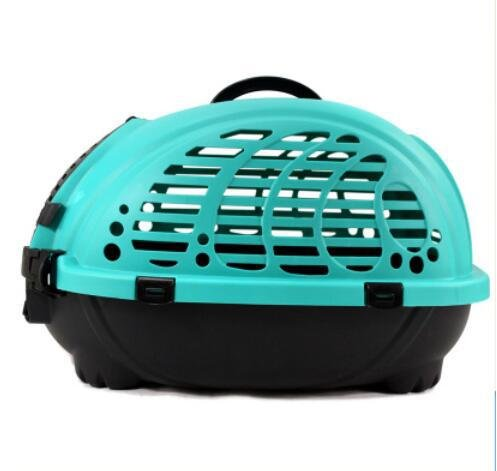 KKZLL Transportbox Hund Katze Haustier Versand Box Box portable Katze Käfig Hundebox Käfig Luft , blue