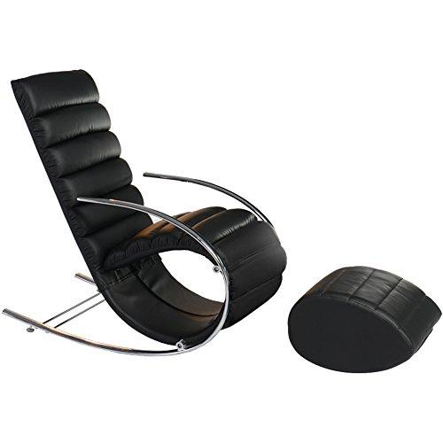 Folding chair Trendiger Rocker Rocker Lounge Sessel (Farbe : Schwarz) (Rocker-liegestuhl)