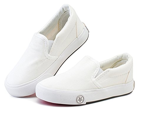 Kinder Frühling Jungen Einfache Slip On Sterne Gummi Sohle Anti-rutsch Sportliche Flach Sneakers Weiß