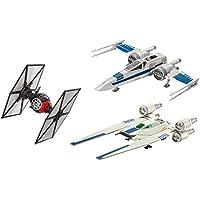 Revell Build & Play- Star Wars First Order Special Forces Tie, Resistance X und Rebel U-Wing Fighter Set Combinado con 3 Barcos conocidos para Construir y Jugar, Multicolor (S2183)