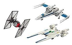 Revell Build & Play S2183 Star Wars First Order Special Forces TIE, Resistance X Rebel U-Wing Fighter Kombi-Set mit 3 bekannten Raumschiffen zum Bauen und Spielen, Mehrfarbig