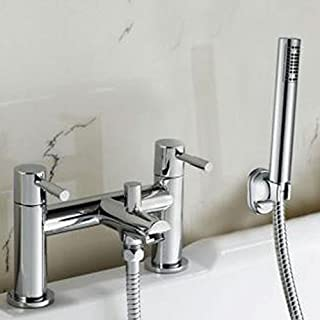 Alfred Victoria Modern Bath Shower Brass Mixer with Shower Kit F04 - Chrome Finish