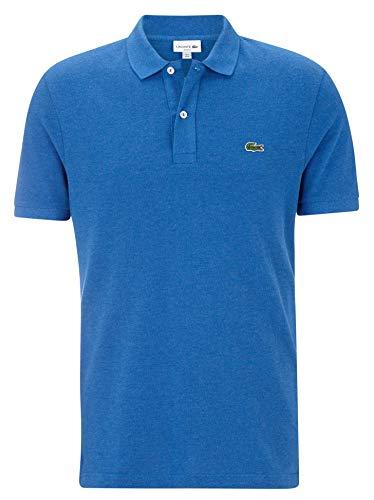 Lacoste PH4012 Herren Polo-Shirt Kurzarm,Männer Poloshirt,Polohemd,Polo,2 Knopf-Leiste,grünes Krokodil,für Freizeit und Sport,Slim Fit,Baumwolle,Saurel Chine(EUY), X-Large (6)
