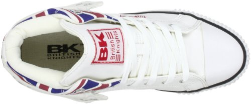 British Knights B30-3798, Hi-Top Slippers mixte adulte Blanc/motif Union Jack
