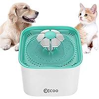 EECOO Fuente de Agua de 2L Silencioso Bebedero Automático para Perros y Gatos, Tiene 3 Modos Ajustables con Filtro de Carbón, Adecuado para Mascotas.