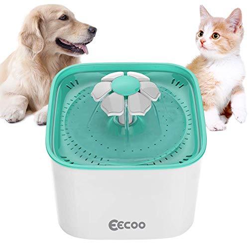 Cat Supplies Perfect In Workmanship Pet Supplies Fontaine à Fleur Pour Chat Automatic Electric Flower 1.6 L Distributeur De No..