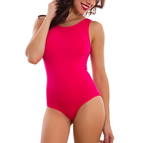 Donna: Abbigliamento Body Donna Intimo Microfibra Elasticizzato Spalla Larga Slim Nuovo Rt9093