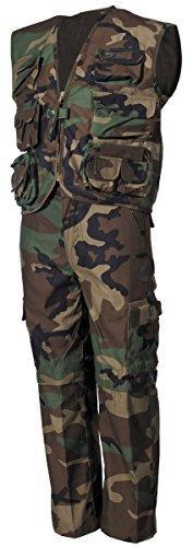 Kinder BW US Army Anzug Weste + Hose woodland S-XXL (122-176) 158/164,woodland 158/164,Woodland