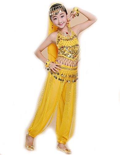 Kostüm Indische Armreifen - EULAGPRE 1set Mädchen Bauchtanz Kostüm Kind Kinder Bellydancer Indische Kleidung Kleider