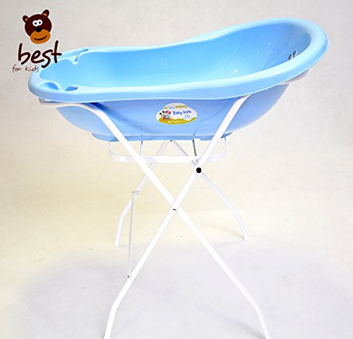 Best for Kids Universal Stand for Baby Bath Tub 84 and100 cm, with or without tray, white