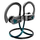 Mpow Flame Bluetooth Kopfhörer, IPX7 Wasserdicht Kopfhörer Sport, 7-10 Stunden Spielzeit/Bass Technologie, Sportkopfhörer Joggen/Laufen Bluetooth 4.1, In Ear Kopfhörer mit Mikrofon für iPhone Android