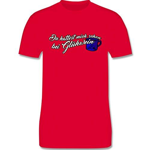 Weihnachten - Du hattest mich schon bei Glühwein - L190 Herren Premium  Rundhals T-Shirt
