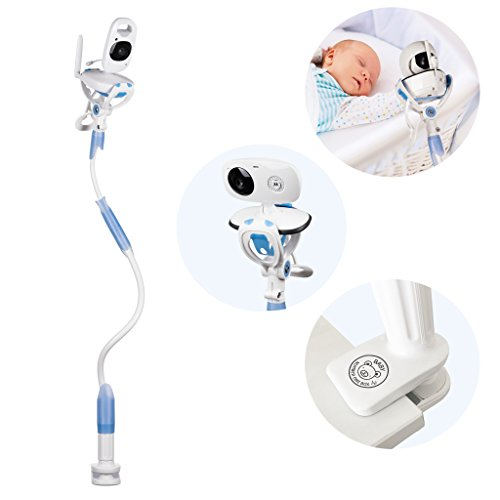 FlexxiCam Universal Baby Camera Mount, Infant Video Monitor Holder and Shelf – Flexible Camera Stand for Nursery Compatible with Most Baby Monitors 41csp6M2csL