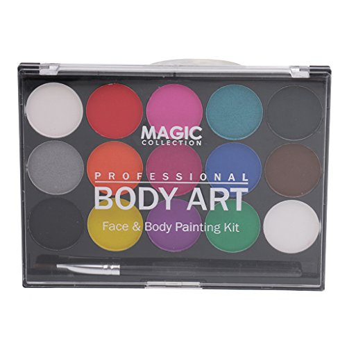 chminkfarben Schminkset Schminkpalette Kinderschminke Schminke Make-Up für Jungen Mädchen Bodypainting Fasching Karneval Halloween Make-up (Party Palette Gesicht Malen Kit)