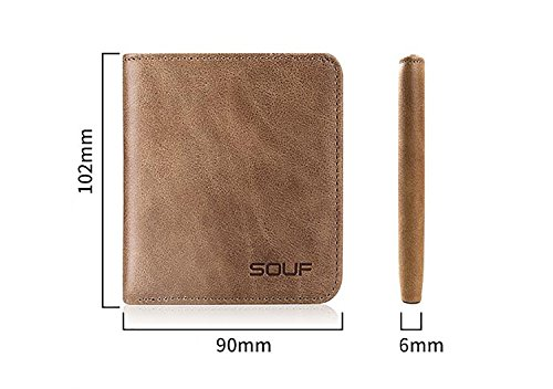 ZXDOP Brieftasche Männer Leder Mini Brieftasche Vertikale Abschnitt Retro Herren Geldbörse Brieftasche Geldbörse ( farbe : 2# ) 5#