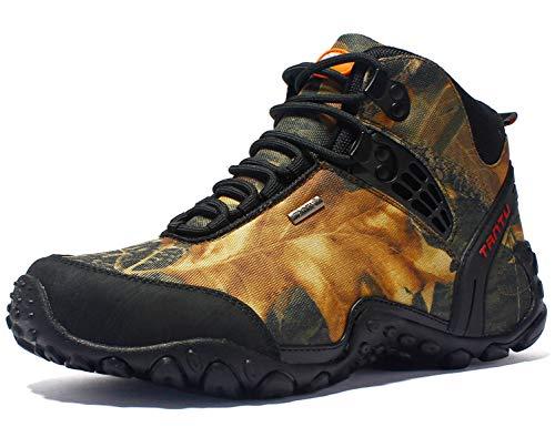 SINOES Herren Wanderschuhe Damen Trekkingschuhe Armee Combat Tactical Boots Verschleißfest rutschfeste Outdoor Einsatzstiefel Für Maenner Frauen