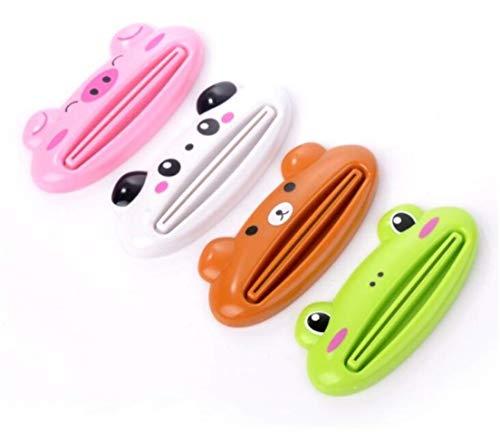 Madlst Zahnpasta mit Cartoon-Motiv, Kunststoff, Frosch, Katze, Panda, Schwein, zufällige Farbe