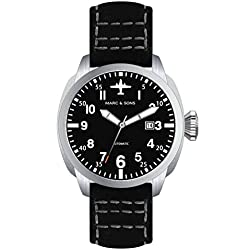 Marc & Sons Professional Automatic Aviator Watch BGW9, Sapphire Glass-MSF 005S