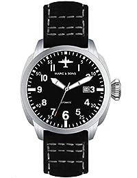 Marc & Sons Professional Planeador automático reloj, bgw9, cristal de zafiro–MSF de 005de S
