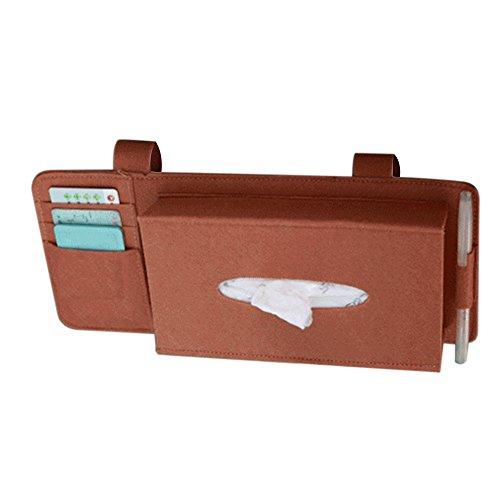 Preisvergleich Produktbild KKmoon Fashion Car Styling Fall Sonnenblende Typ Wollfilz Hanging Tissue Box Auto Serviettenhalter Fahrzeugzubehör Taschen-Organizer-Beutel-Kartenspeicher