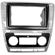 CARAV 11-042 2-DIN Marco de plástico para radio para SKODA Octavia 2008-2013 (automatical A/C) gross gray