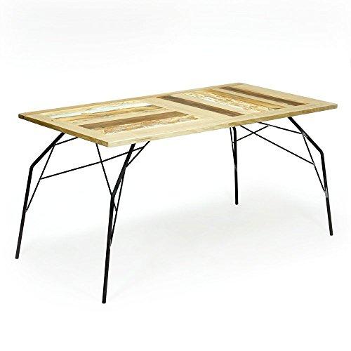 La Quercia 21 – &Quot;Ragno Table, Fer et Pieds à Plat en chêne Massif – Design Italien