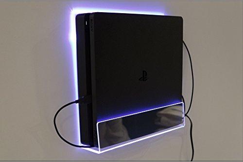 """für Playstation 4 SLIM Version Wand Halterung Blau LED New für PS4 """"Preise inkl. MwSt."""""""