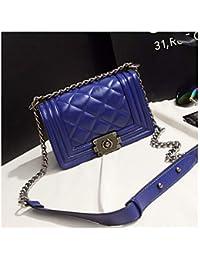 8f9950b1beb4d XUZISHAN Damen Leder Bag Single Schulter- Messenger Crossbody Fashion  Handtasche Rhombus Gitter