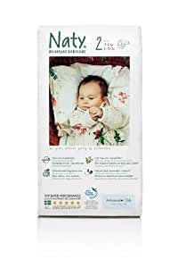 Nature Babycare Size 2 (6-13 lbs/3-6 kg) Nappies - 5 x Packs of 34 (170 Nappies)