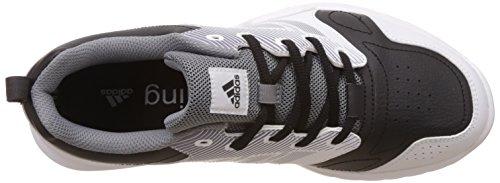 adidas Essential Star, Scarpe Indoor Multisport Uomo Nero ( Negbas/Neguti/Ftwbla)
