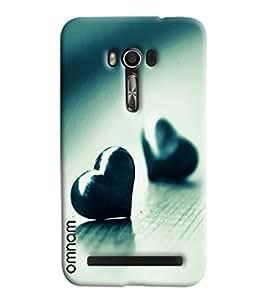 Omnam Two Heart Pattern Printed Designer Back Cover Case For Asus Zenfone Go