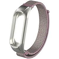Para xiaomi mi band 3 correa ,❤️Amlaiworld Reemplazo de pulsera de smartwatch Muñequeras Nylon Pulsera deportiva de repuesto Banda de reloj de correa para Xiao Mi Band 3 (Rosado, Para Xiaomi Mi Band 3)