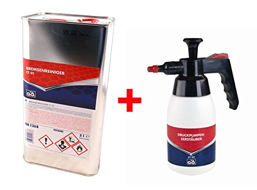 Limpiador de frenos 5 l Kanister CT01 + Pulverizador a presión CT02