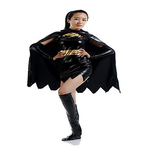Schwarz Geeignet Spider Girl Kostüm - ZHANGQI Mädchen Kostüm Cosplay Batman Schlacht