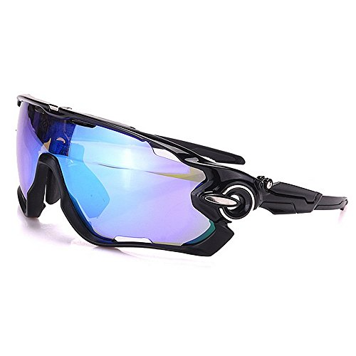 Ciclismo occhiali occhiali occhiali da sole sportivi polarizzati oversize set 3 pezzi lenti intercambiabili protezione uv400 driving cycling running golf da corsa elegante e durevole ( colore : nero )