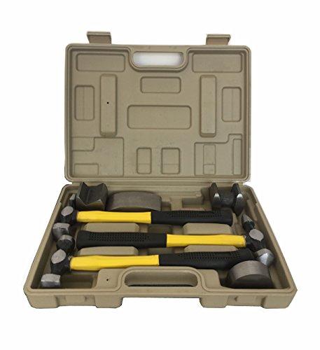 savingplus 7pcs Body Repair Tool Kit Auto Ding Dent Hammer Dolly Panel Schlägel Reparatur