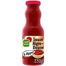 SUZI WAN Sauce froide à dipper Aigre Douce 330 g pour entrées ou apéritifs - Pack de 12 unités