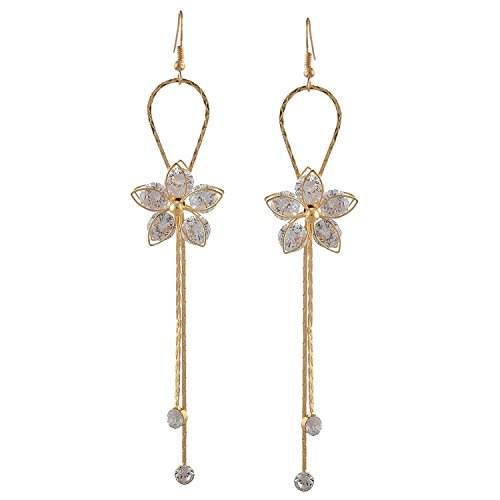 Om Jewells Rose Gold Plated magnificent Crystal Dangler Earrings made for girls and women ER1000085