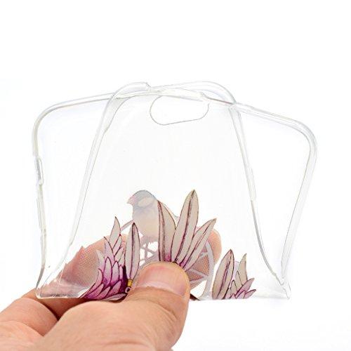 """iPhone 6 / 6S Cover , IJIA Ultradünne Transparent Schöne Blumen der Klassischen TPU Weich Silikon Stoßkasten Hülle Handyhülle Schutzhülle Handyhüllen Schale Case Tasche für Apple iPhone 6 / 6S 4.7"""" (X XX36"""