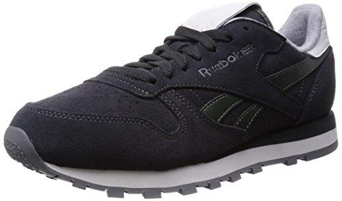 Reebok Classic Leather Suede, Chaussures de Running Entrainement Homme Gris (gravel/darkest Olive/white/black/shark)