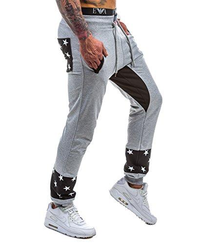 BOLF – Pantaloni sportivi – Jogging pantaloni – Regular – Sport – Motivo – Uomo [6F6] Grigio