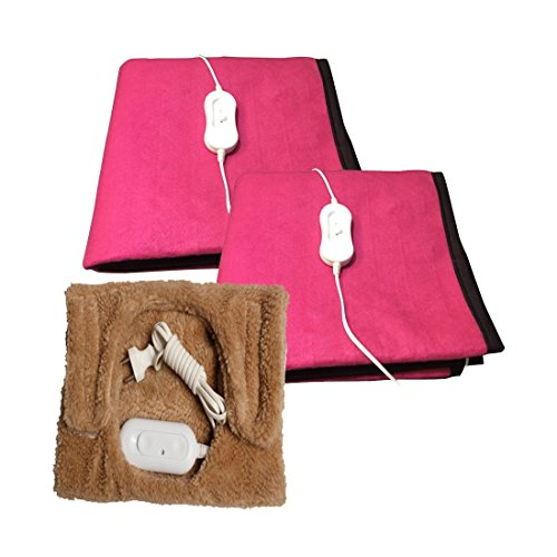 KRIEN CARE Electric Blanket (COMBO OFFER) Single Bed MAKE IN INDIA (75X150 CMS) + Knee Heating Pad
