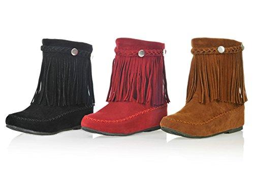 Vermelhos Retro Plana Ankle Casuais Rebites Boots Outono Briga Curtas Camurça Sapatos Senhoras Botas Tornozelo Com Ye wZABgxq7g