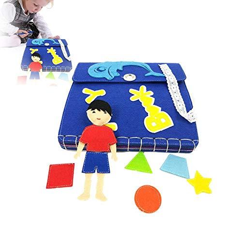 Miss-an Cloth Book, Kids Picture Manual Dreidimensionales Buch für die frühe kognitive Entwicklung Kids Toy Cloth Books
