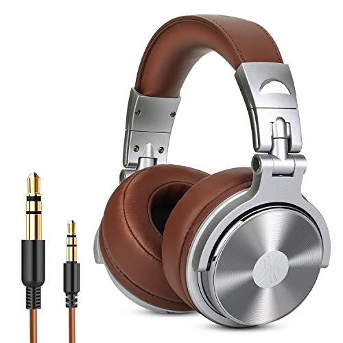 OneOdio DJ Kopfhörer, Studiokopfhörer, Over Ear Headset, Geschlossene Headphone Stereo/Studio Monitor & Mixing/Teleskoparme mit Skala/50mm Treiber Comfort-stereo
