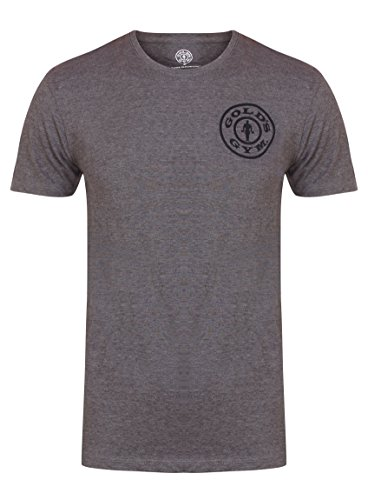 Goldsgym Basic Left Chest Print T-Shirt, Grigio ( Grey Marl