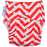 BabyCenterIndia Reusable Cloth Diaper For Heavy Absorbency : Red And White Color